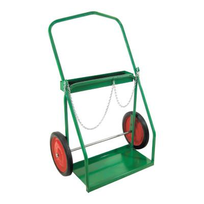 ANTHONY Low-Rail Frame Dual-Cylinder Cart, For 9.5 in-15 in dia., 14 in Solid Rubber/Steel Rim