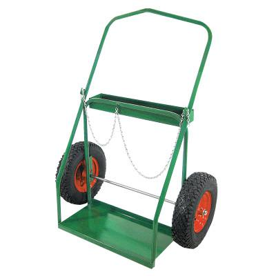 """ANTHONY Low-Rail Frame Dual-Cylinder Carts, Holds 9.5""""-15"""" dia., 16 in Pneumatic Wheels"""