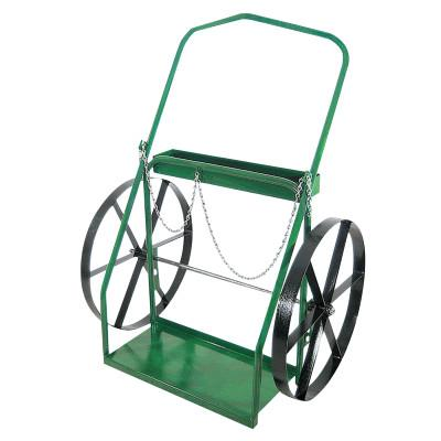 """ANTHONY Low-Rail Frame Dual-Cylinder Carts, For 9.5""""-15"""" Cylinder, 24 in Steel Wheels"""
