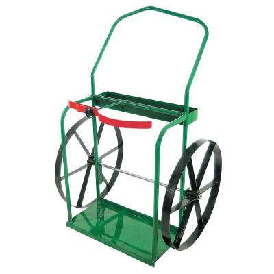 """ANTHONY High-Rail Frame Dual-Cylinder Carts, For 9.5""""-13.5"""" Cylinders, 24"""" Steel Wheels"""