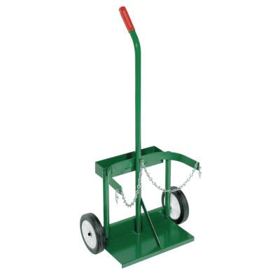 """ANTHONY Small Dual-Cylinder Carts with Tool Tray, 7"""" Solid Rubber/Plastic Rim Wheels"""