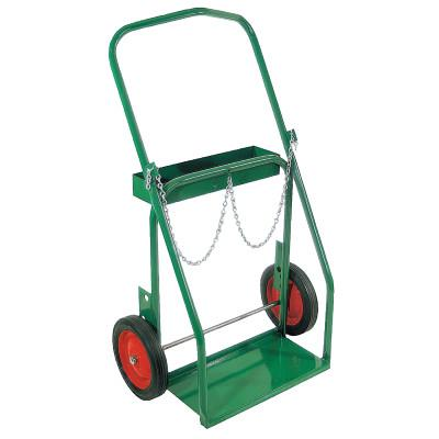 """ANTHONY Low-Rail Frame Dual-Cylinder Cart, For 8""""-8.5"""" dia., 10"""" Solid Rubber/Steel Rim"""