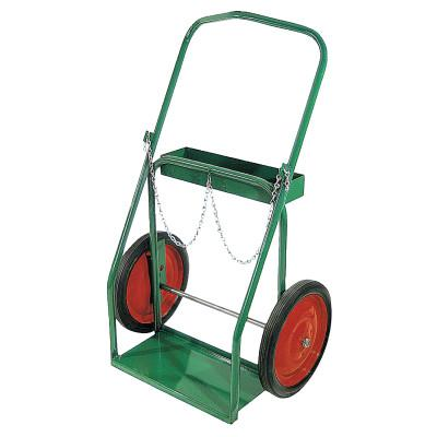 """ANTHONY Low-Rail Frame Dual-Cylinder Carts, For 8""""-8.5"""" dia., 14"""" Solid Rubber/Steel Rim"""