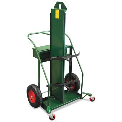 ANTHONY Patented Load-N-Roll Cylinder Carts with Built in Firewall, Pneumatic Wheels