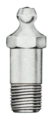 ALEMITE Hydraulic Fittings, Straight, 1 1/4 in, Male/Male, 1/8 in (PTF)