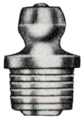 ALEMITE Drive Fittings, Straight, 35/64 in, Male/Male, 5/16 in