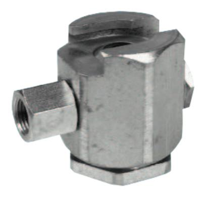 ALEMITE Button Head Coupler, Female/Female, 1/8 in, Giant pull-on type