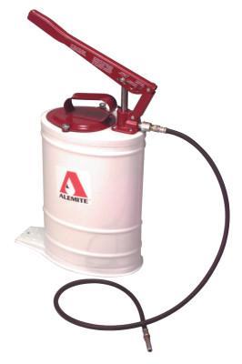 ALEMITE Multi-Pressure Bucket Pumps, 5 gal, 5 ft Hose