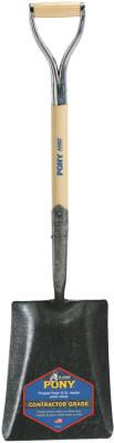 JACKSON PROFESSIONAL TOOL Shovels, 12 in X 9 3/4 in Square Point Blade, 27 in White Ash D-Handle