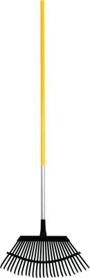 TRUE TEMPER Superflex Rake, 48 in Vinyl Coated Aluminum Handle