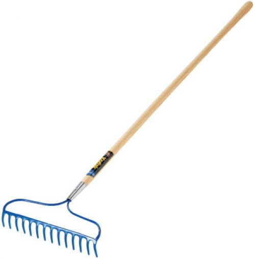 JACKSON PROFESSIONAL TOOL Garden Rake, 14 in Forged Steel Blade, 60 in White Ash Handle