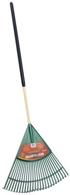 TRUE TEMPER Lawn Rake, 24 in Plastic Blade, 48 in White Ash Handle