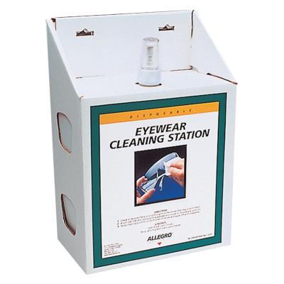 ALLEGRO Large Disposable Eyewear Cleaning Station