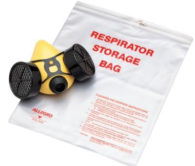 ALLEGRO Respirator Storage Bags, Half/Full Mask, Clear