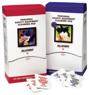 ALLEGRO Alcohol-Free Respirator Cleaning Pad, White