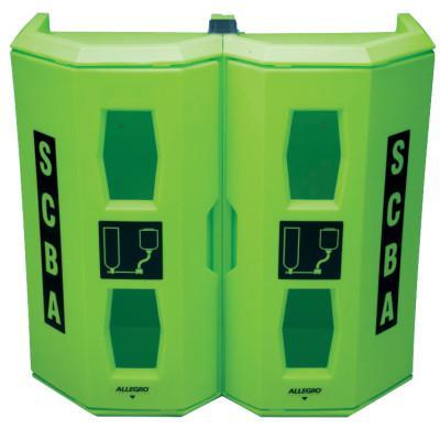 ALLEGRO Heavy-Duty SCBA Wall Cases, For Single SCBA, 28 X 14 X 17