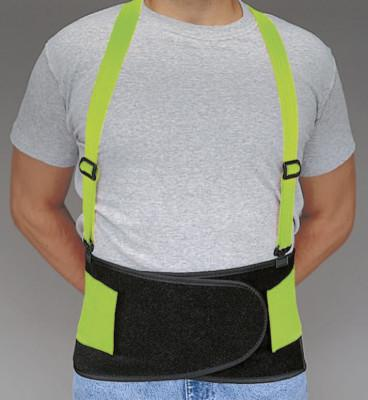ALLEGRO Economy Hi-Viz Back Supports, Small, Lime Green