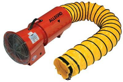 ALLEGRO DC Axial Blowers w/Canister, 1/4 hp, 12 VDC, 15 ft. Ducting