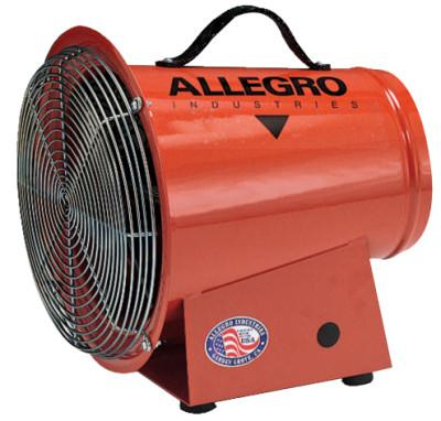 ALLEGRO DC Axial Blowers, 1/4 hp, 12 VDC, 15 ft. Cord w/Alligator Clips
