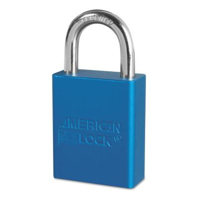 AMERICAN LOCK Solid Aluminum Padlocks, 1/4 in Diam., 1 in L X 3/4 in W, Blue