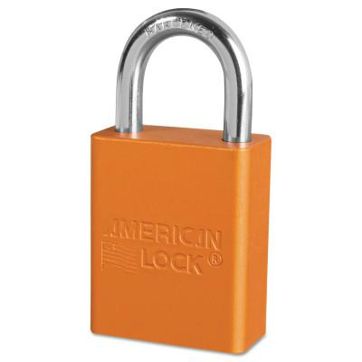 AMERICAN LOCK Solid Aluminum Padlocks, 1/4 in Diam., 1 in L X 3/4 in W, Orange