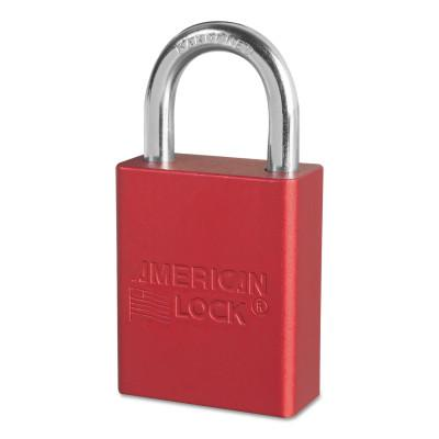 AMERICAN LOCK Solid Aluminum Padlocks, 1/4 in Diam., 1 in L X 3/4 in W, Red