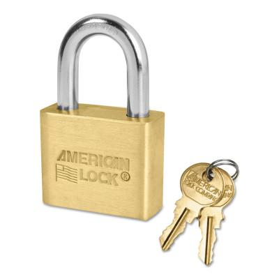 AMERICAN LOCK Brass Bodied Padlocks (Blade Cylinder), 5/16 in Diam., 1 1/8 in Long