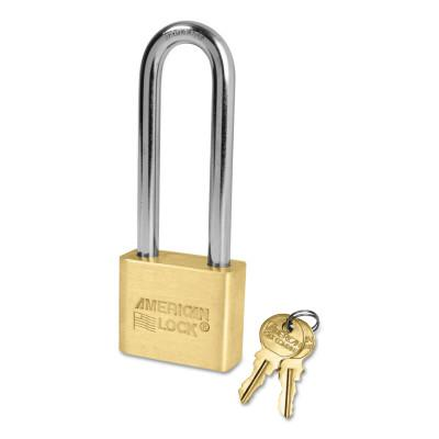 AMERICAN LOCK Brass Bodied Padlocks (Blade Cylinder), 5/16 in Diam., 3 in Long