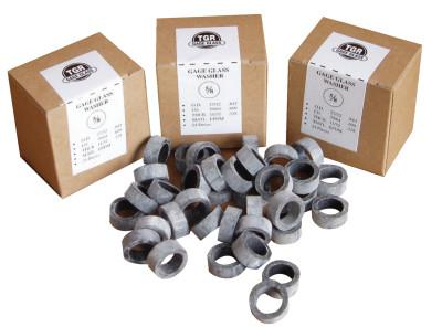 GAGE GLASS Washers, 3/4 in, Rubber