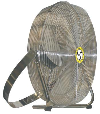 AIRMASTER High Velocity Low Stand Fans, Swivel, Yoke Mount, 18 in, 1/8 hp, 3-Speed