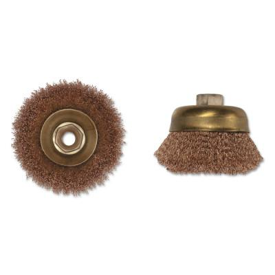 AMPCO SAFETY TOOLS Crimped Wire Cup Brush, 3 in Dia., 5/8-11 Arbor, .014 in Wire