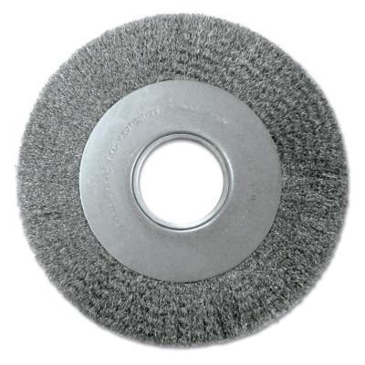ANDERSON BRUSH Med. Crimped Wire Wheel-DA Series, 6 D x 1 1/8 W, .0104 Carbon Steel, 6,000 rpm
