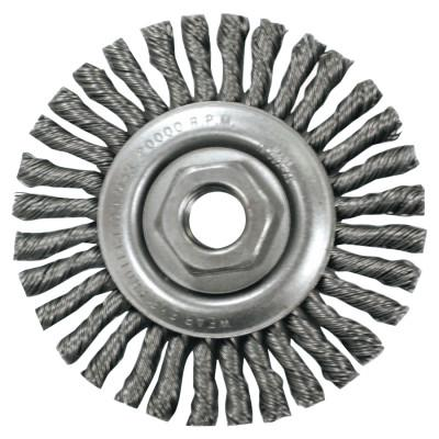 ANDERSON BRUSH Narrow Stringer Bead Wire Wheel-STCM, 4 1/2 D x 1/4 W, .02 Carbon, 12,500 rpm