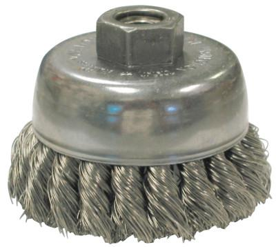 2-3//4″ x 5//8″-11 Stainless Steel Wire Knot Cup Brush for Angle Grinders Knotted
