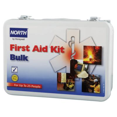 HONEYWELL NORTH First Aid Kits, 25 Person Bulk, Metal