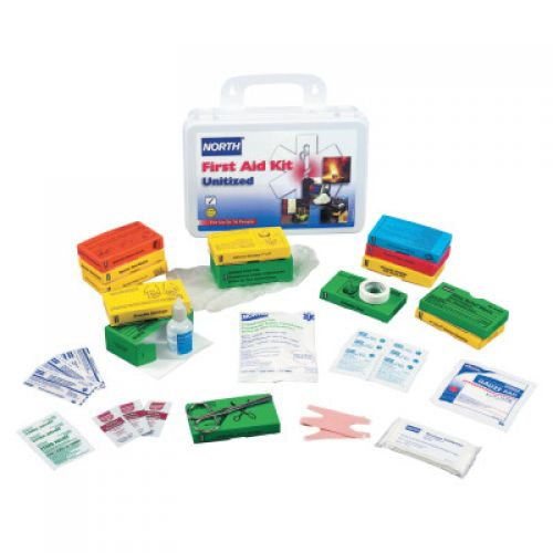 NORTH SAFETY Unitized First-Aid Kits, Personal Protection, Metal, 32 Person