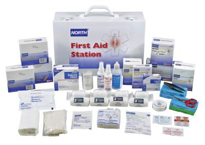 NORTH SAFETY First-Aid Stations, Large Office and Manufacturing Settings, Metal