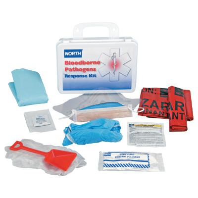 HONEYWELL NORTH Bloodborne Pathogen Response Kit, 16 Unit, Plastic