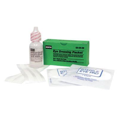 HONEYWELL NORTH Emergency Eye Wash Refills, 1 oz Wash/Eye Pads/Strips