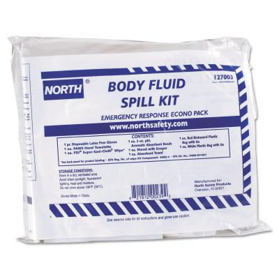 NORTH SAFETY Bloodborne Pathogens Spill Clean-Up Kits, Spill Control, Plastic