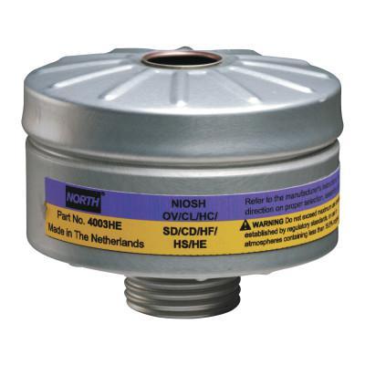 HONEYWELL NORTH PAPR Cartridge, HEPA Filtration, Yellow/Magenta