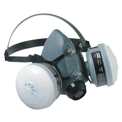 HONEYWELL NORTH 5500 Series Low Maintenance Half Mask Respirators, Large, OV/N95 Cartridges
