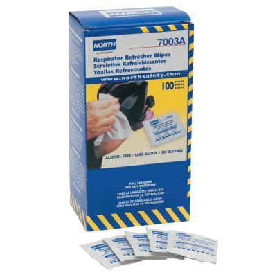 HONEYWELL NORTH Respirator Refresher Wipe Pads, 9 3/4 in x 4 1/2 in, White