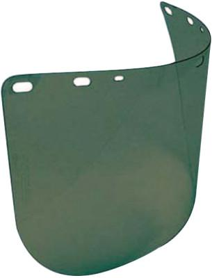 NORTH SAFETY Faceshield Replacement Visors, Green, Polycarbonate