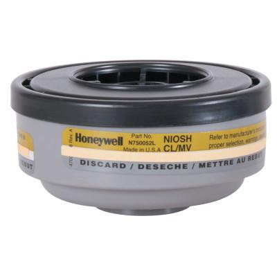 HONEYWELL NORTH Gas and Vapor Cartridges, Mercury Vapor/Chlorine, Olive
