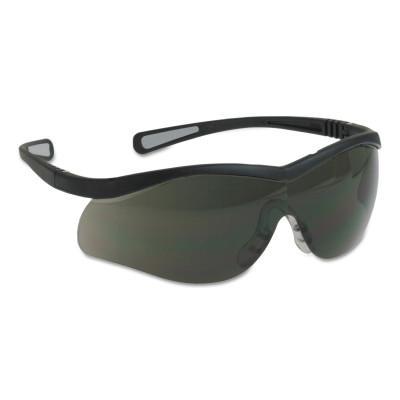 NORTH SAFETY Lightning Safety Glasses, Smoke Lens, Anti-Scratch, Anti-Static, Black Frame