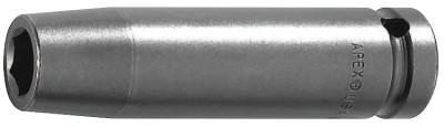 """APEX 1/2"""" Dr. Deep Thin Wall Sockets, 21244, 1/2 in Drive, 14 mm, 6 Points"""