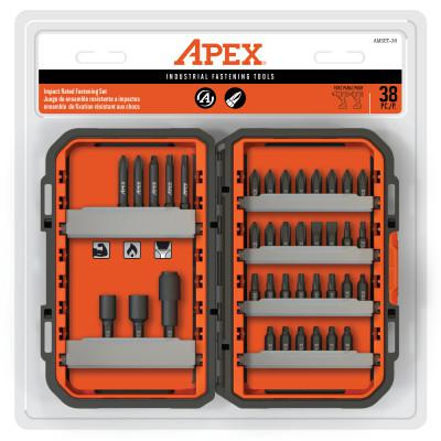 APEX 38 Pc. Fastening Set, Phillips, Slotted, Square, Torx Tips