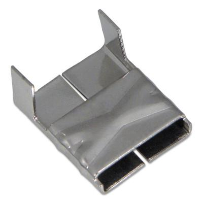 BAND-IT 316 Stainless Steel Clips, 3/8 in, Stainless Steel