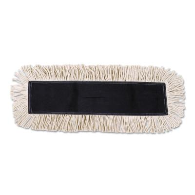 BOARDWALK FOODSERVICE Disposable Cut End Dust Mop Head, Cotton/Synthetic, 24w x 5d, White